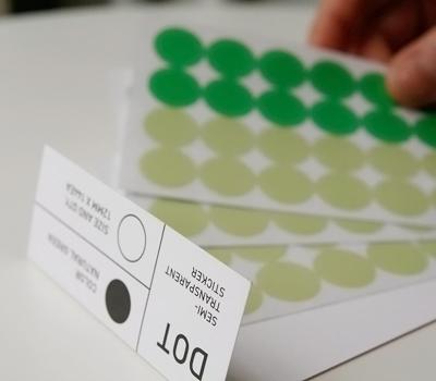 mmmg dot transparent stickers   simple pretty