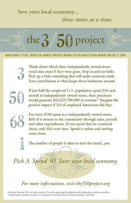 the 3/50 project for the local economy | simple pretty