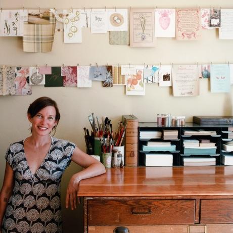 cynthia in her studio