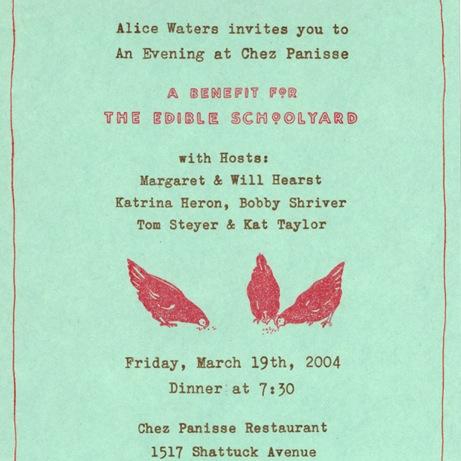 cynthia warren  edible schoolyard invitation | simple pretty