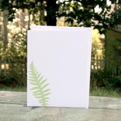 red bird ink sweet fern; set of six flat cards | simple pretty