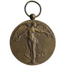 ww1 commemorative medal; artist paul dubois; $125