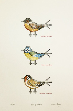 serrote three birds print (five-color letterpress) | simple pretty