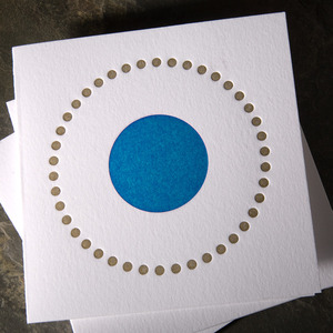 .kamal turquoise dot card | simple pretty