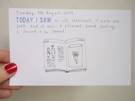 jill wignall's 'today i saw' project | simple pretty