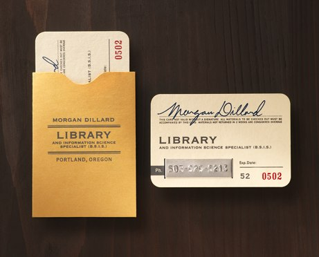 eric stevens/tower of babel 'morgan dillard' library card | simple pretty
