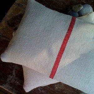 grain sack pillows by jill bent
