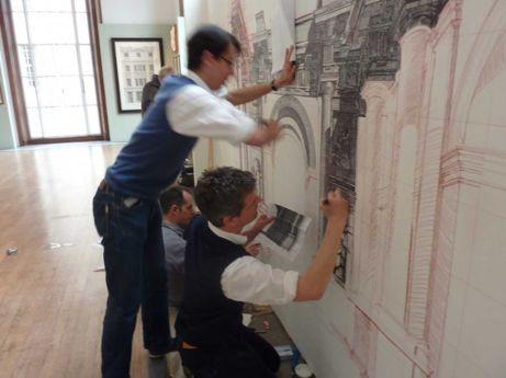 ben pentreath (and others) drawing at RIBA   simple pretty