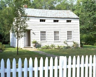 white house w/picket fence at tricia foley's blog | simple pretty