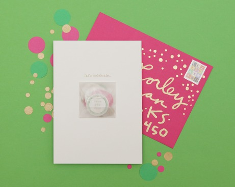 cheree berry confetti save-the-date | simple pretty