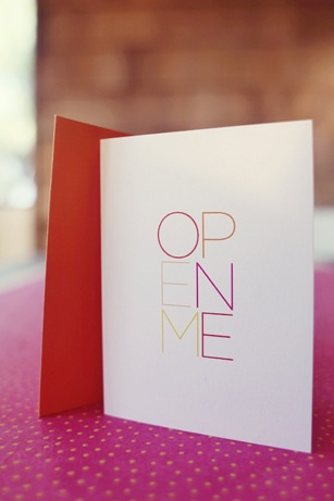 bluepoolroad open me ombré card | simple pretty