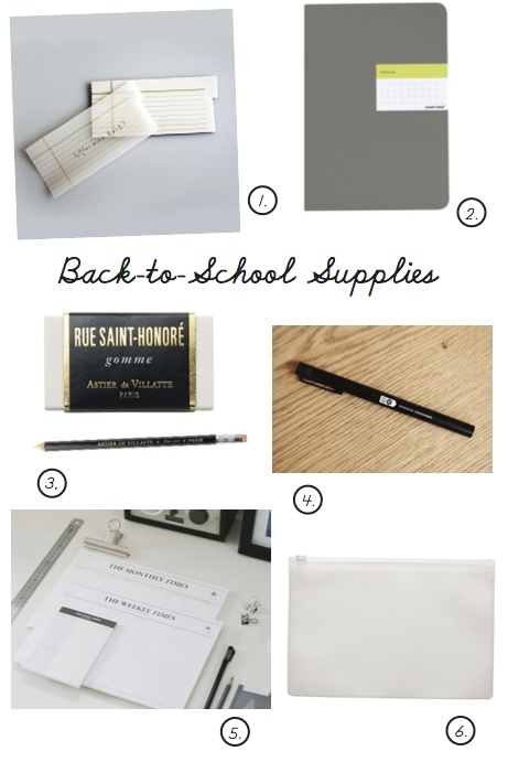 grown-up back-to-school supplies, autumn 2012   simple pretty