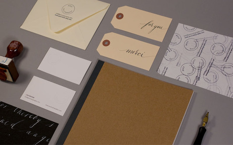 post calligraphy identity components | simple pretty