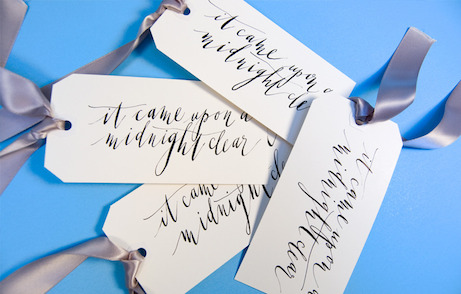 post calligraphy 'it came upon a midnight clear' tags | simple pretty