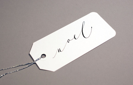 post calligraphy 'noel' tag | simple pretty