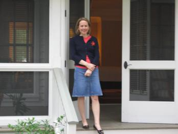 me, eight years ago, outside our cottage at the inn at palmetto bluff