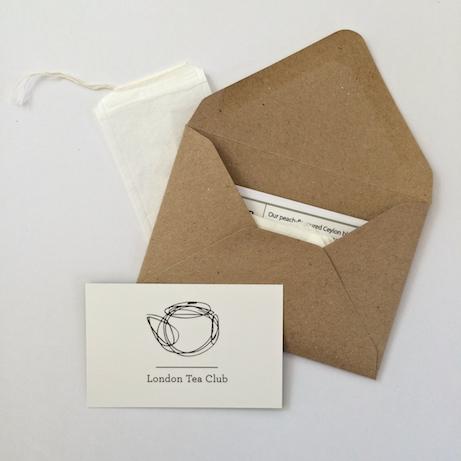 london tea club card   simple pretty