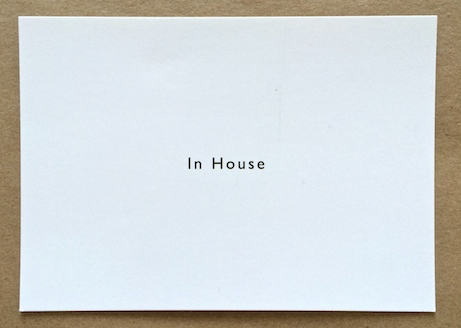 in house post card for opening collection | simple pretty