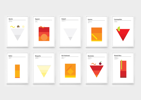 nick barclay designs cocktail prints | simple pretty