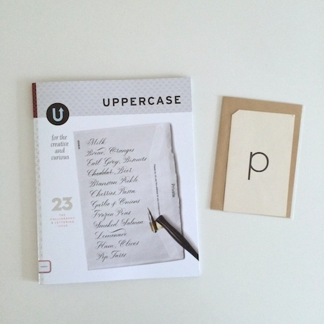 uppercase magazine and vintage flash card at pedlar's | simple pretty