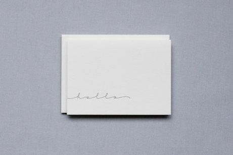 birdwalk press hello script greeting card | simple pretty