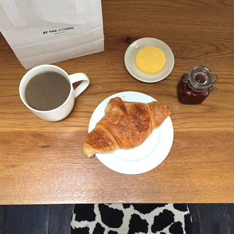 croissants and coffee at the chapel | simple pretty