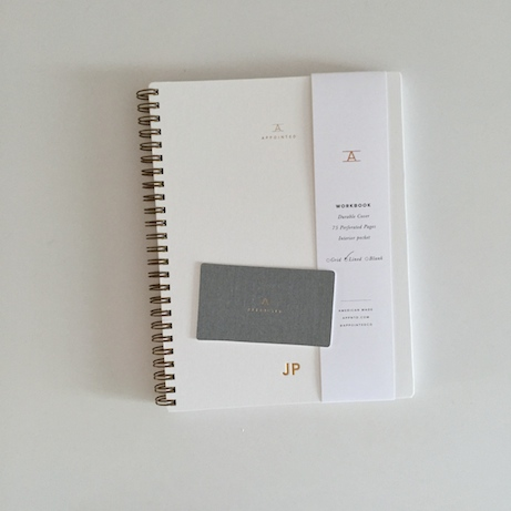 appointed workbook in canvas white | simple pretty