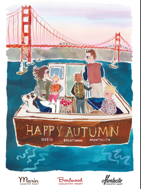 happy menocal illustration for brentwood, montecito + marin country marts | simple pretty
