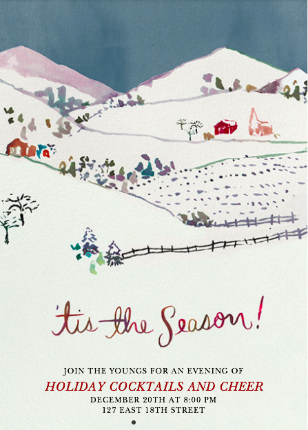 happy menocal holiday card for paperless post | simple pretty
