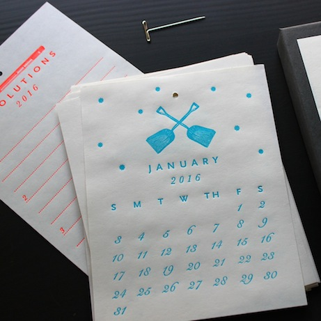 sesame letterpress 2016 calendar | simple pretty