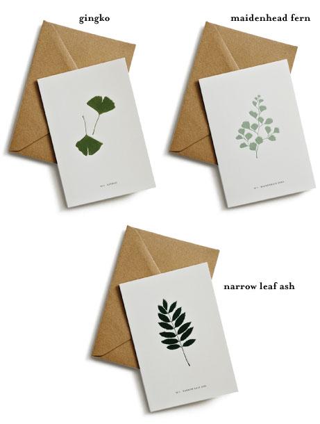 kartotek leaf greeting cards | simple pretty