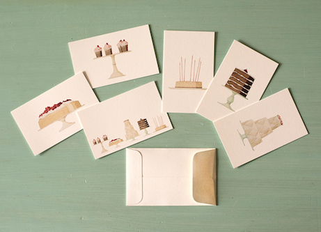 laura stoddart 'cakes' enclosure cards for hester and cook | simple pretty