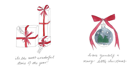 lucy bowes designs: presents and baubles   simple pretty