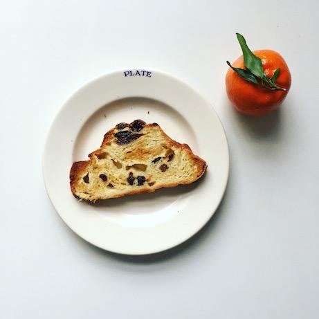 toast on emma bridgewater utility plate (photo by jane potrykus)   simple pretty