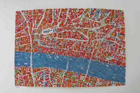 barbara macfarlane 'london' in pink and orange | simple pretty