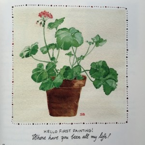 geranium watercolor by susan branch, author extraordinaire | simple pretty