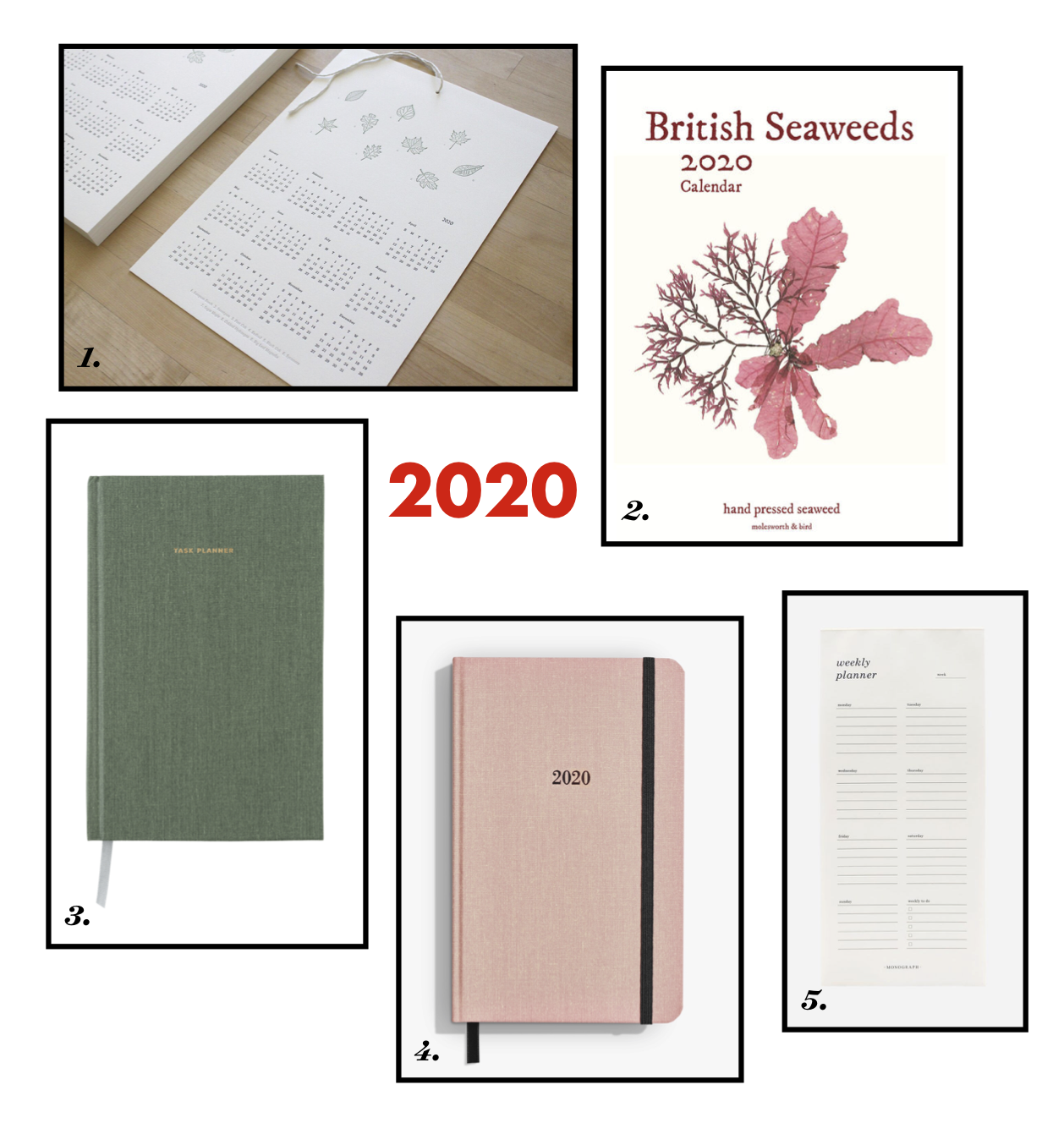 2020 calendars and planners | simple pretty