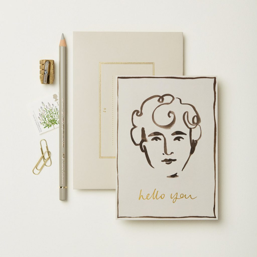 "wanderlust paper co ""hello you"" card 