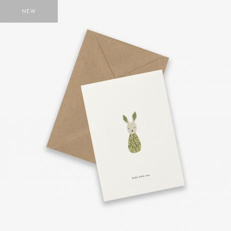 kartotek 'hello little one' greeting card | simple pretty